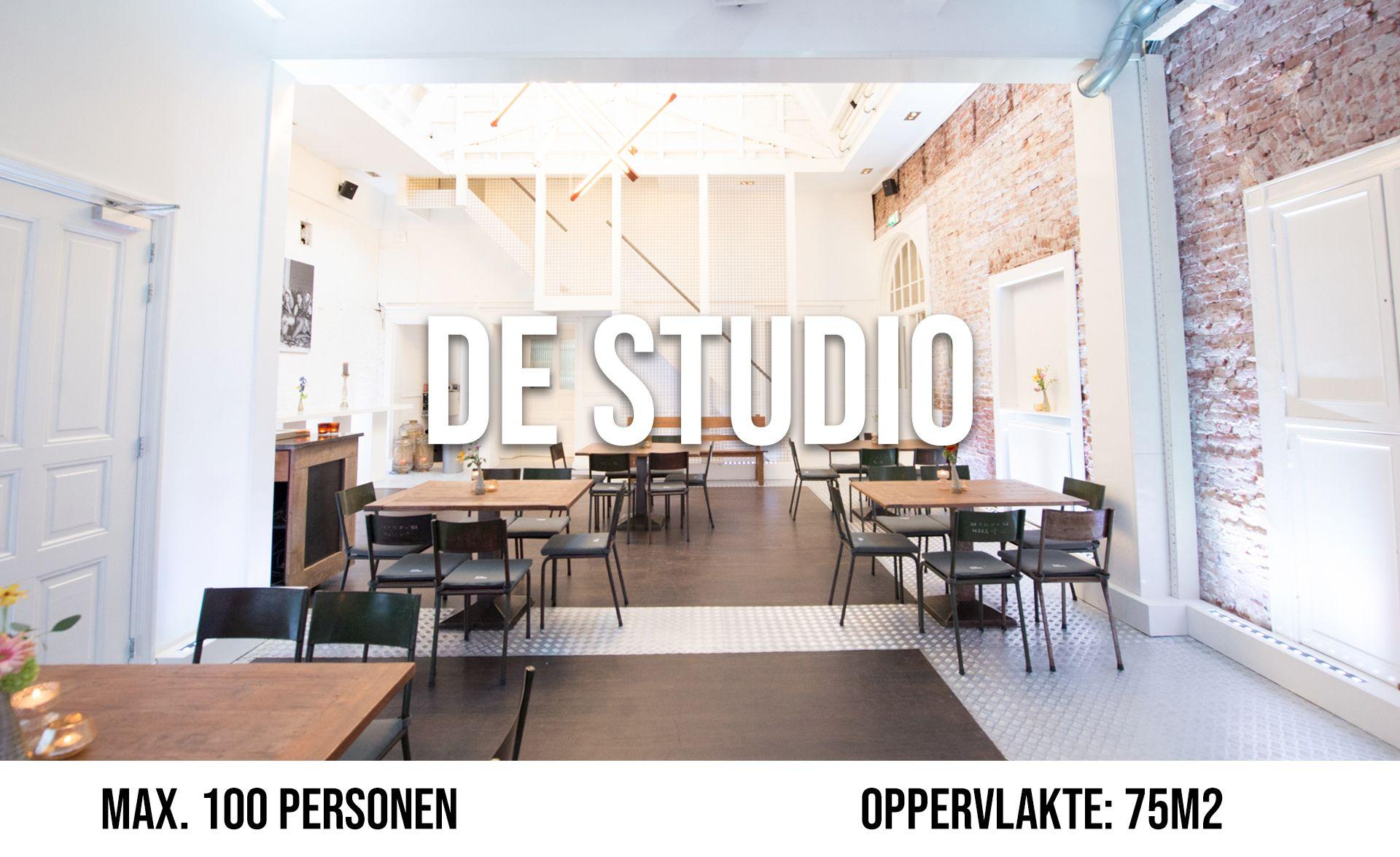 De Studio (maximaal 100 personen, oppervlakte 75 m²)