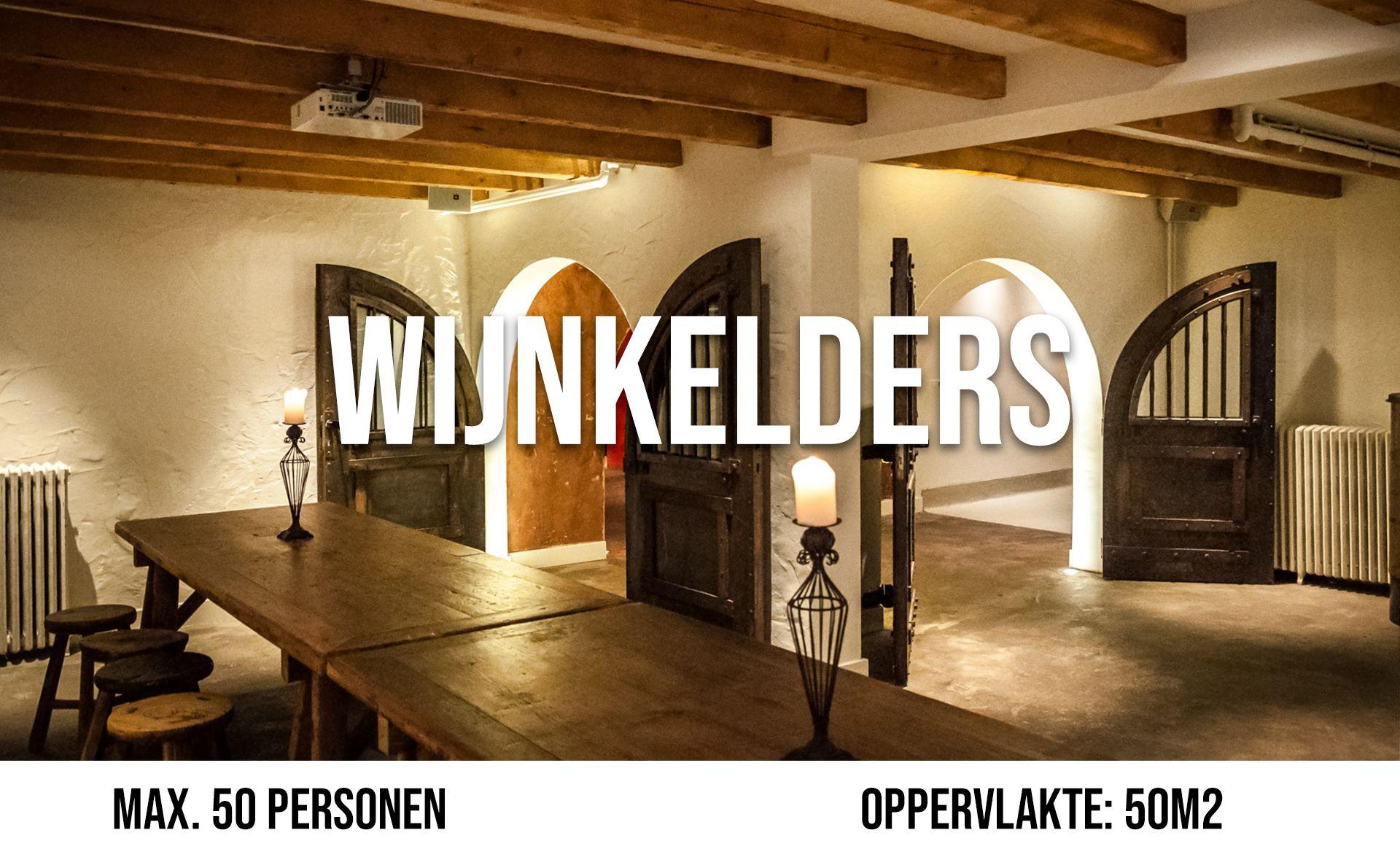 De Wijnkelders (maximaal 50 personen, oppervlakte 50 m²)
