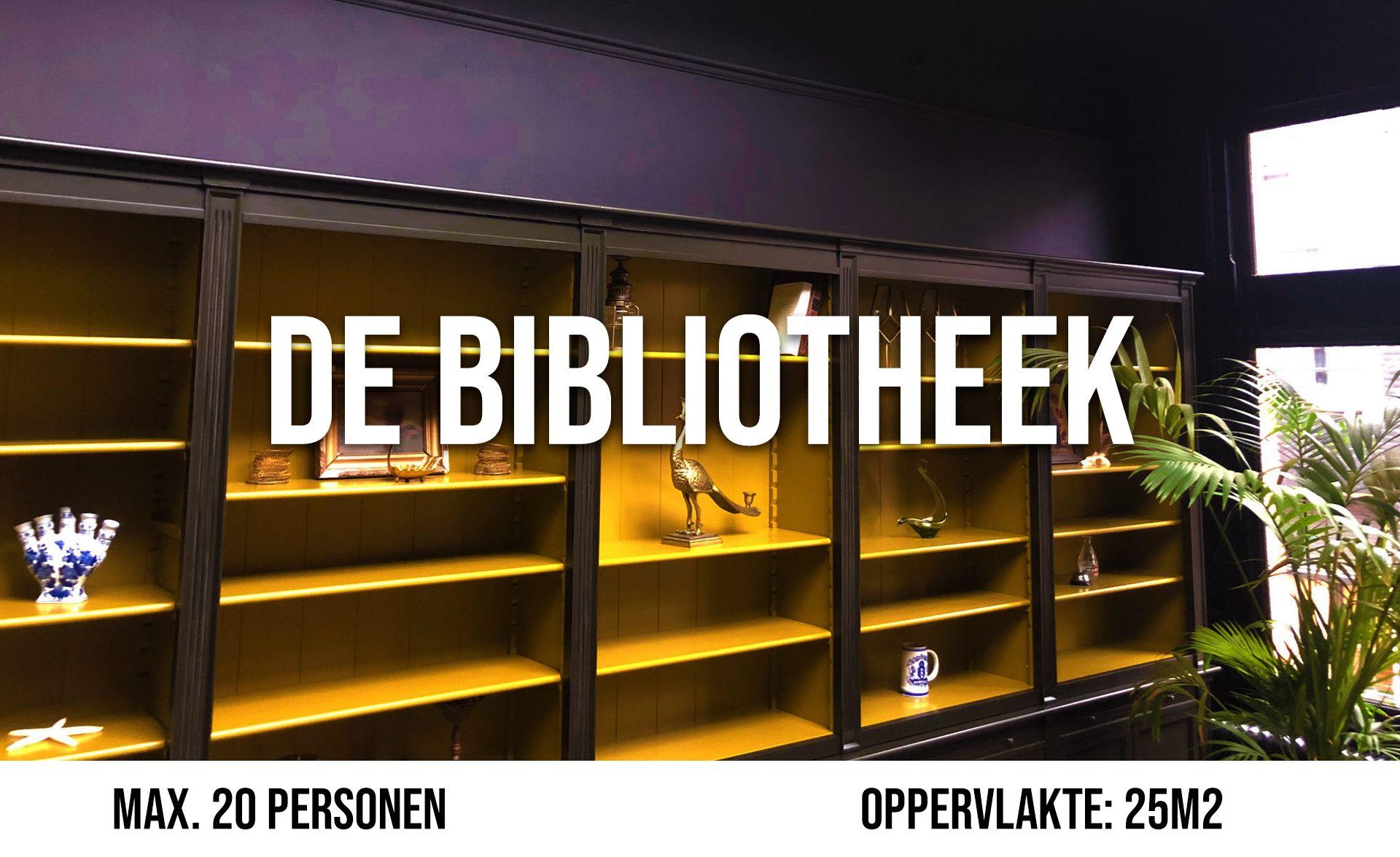 De Bibliotheek (maximaal 20 personen, oppervlakte 25 m²)