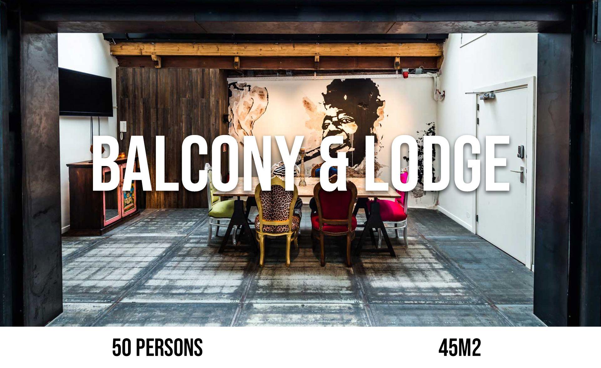 Balcony & Lodge (maximum 60 persons, area 45 m²)