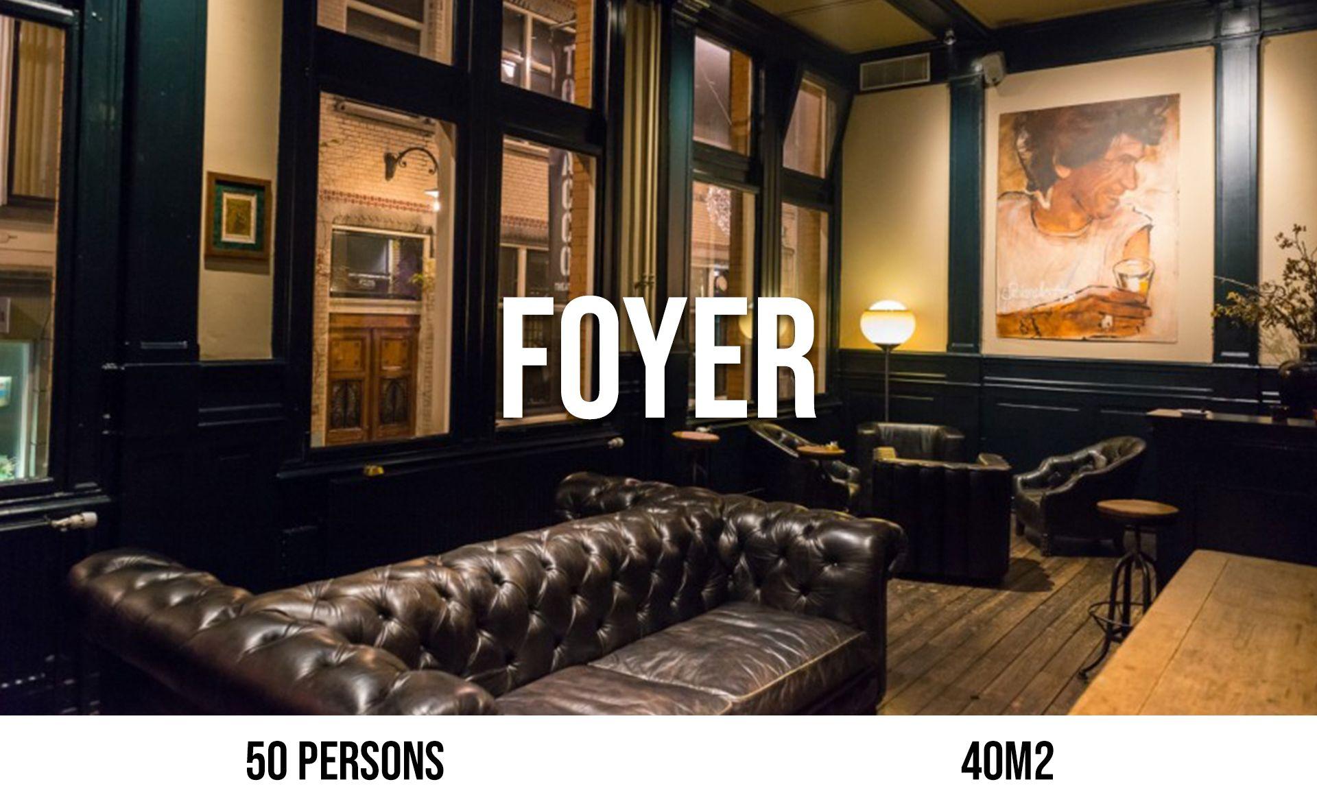 Foyer (maximum 50 persons, area 40 m²)