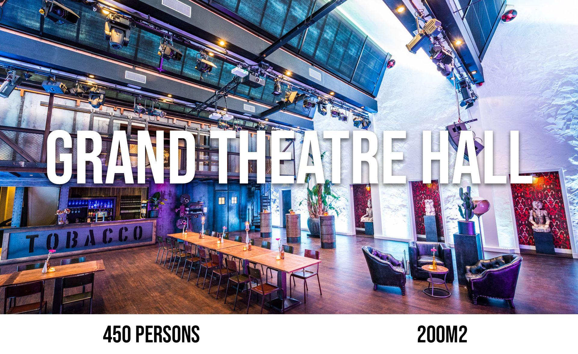 Grand Theatre Hall (maximum 450 persons, area 200 m²)
