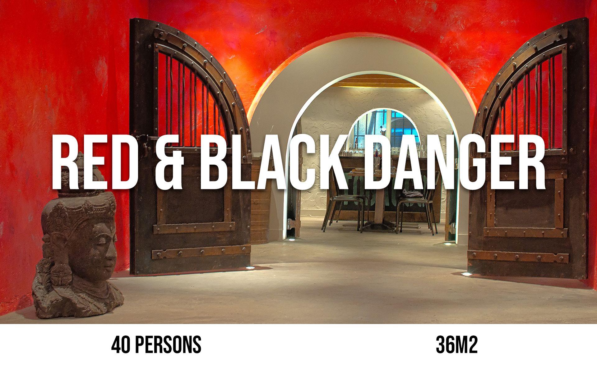 Red & Black Danger (maximum 40 persons, area 36 m²)