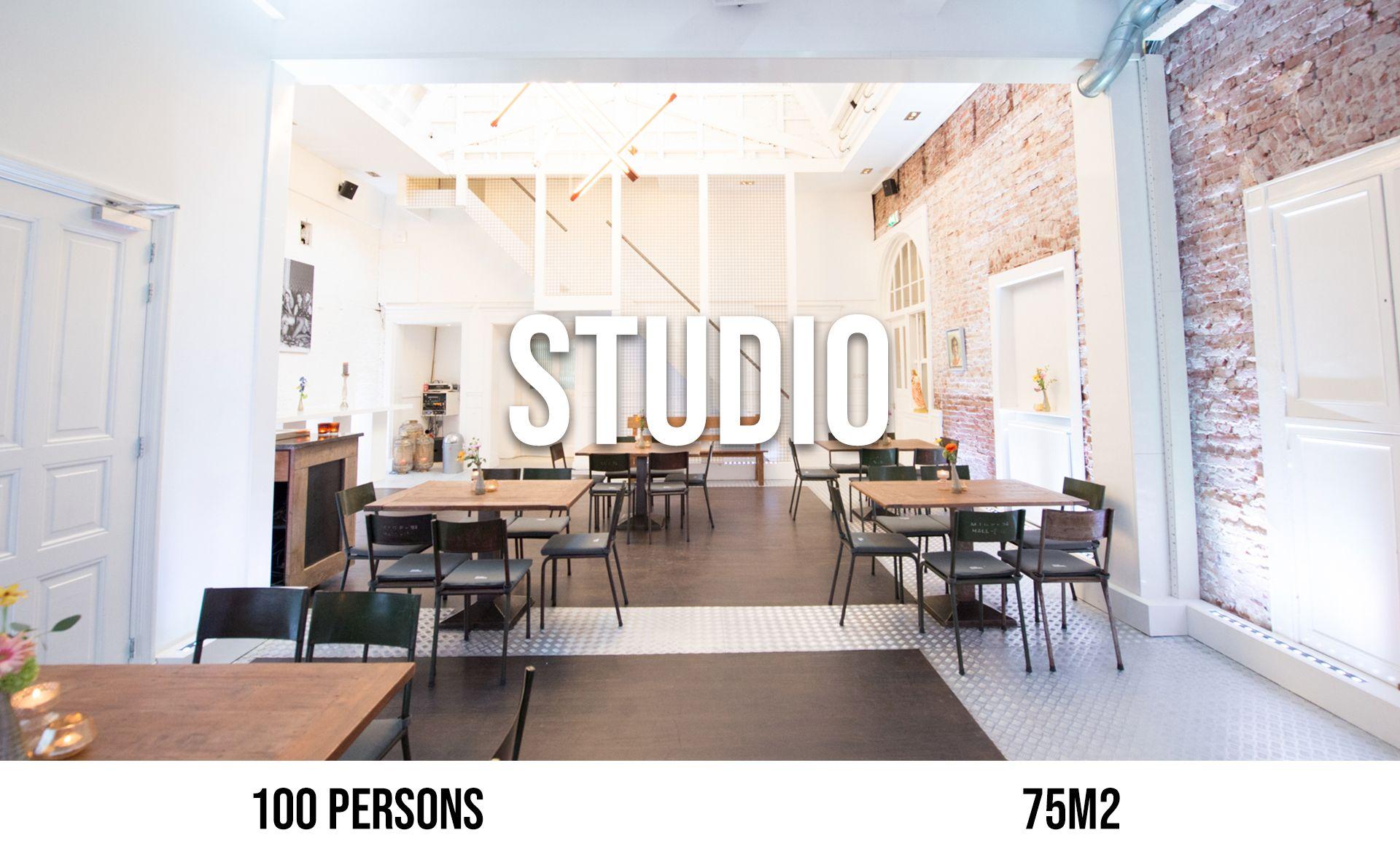 Studio (maximum 100 persons, area 75 m²)