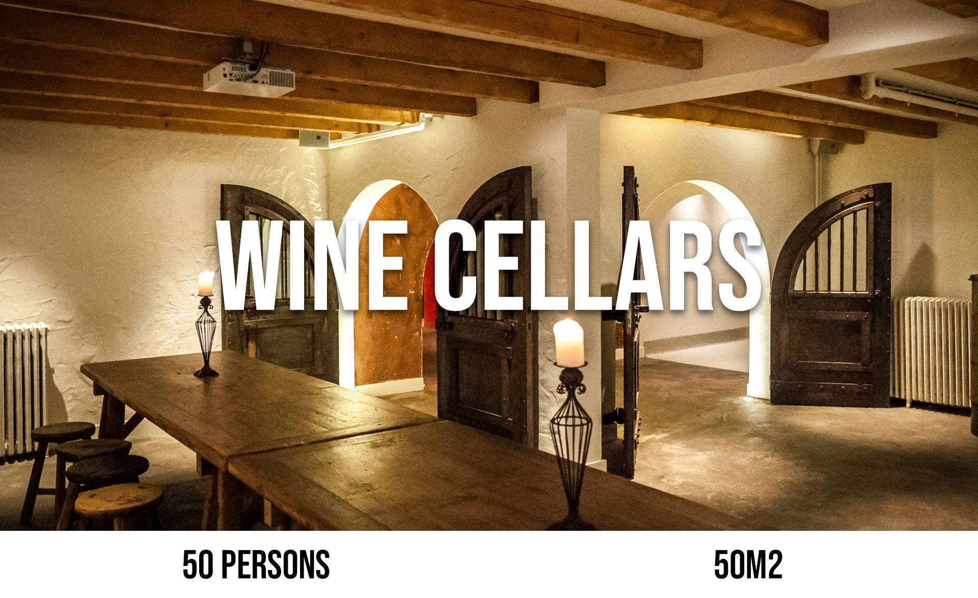 Wine Cellars (maximum 50 persons, area 50 m²)