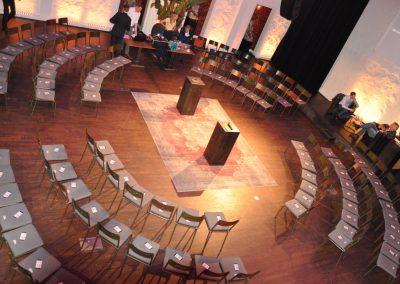 Opstelling theaterzaal zakelijk